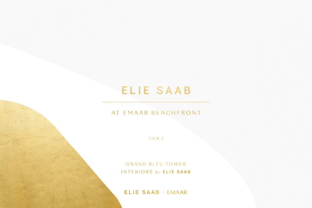 Elie Saab at Emaar Beachfront Apartments Residences Penthouse for Sale