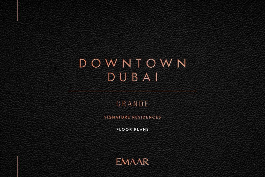 Grande Signature Residences Downtown Dubai Floor Plans