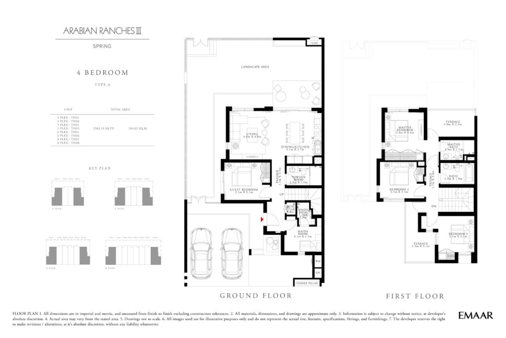 Spring Arabian Ranches III Floor Plans
