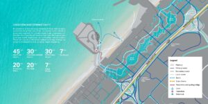 Bluewaters Residences Apartments for Sale Location Map