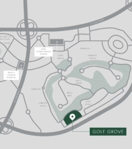 Golf Grove Offplan Villas for Sale Dubai Hills Estate Location