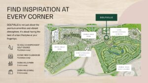 Golfville Dubai Hills Estate Apartments for Sale in Dubai Location Map