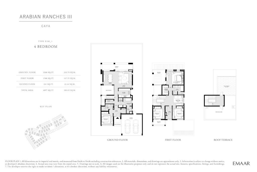 Caya Arabian Ranches III Floor Plans 4 Bedroom