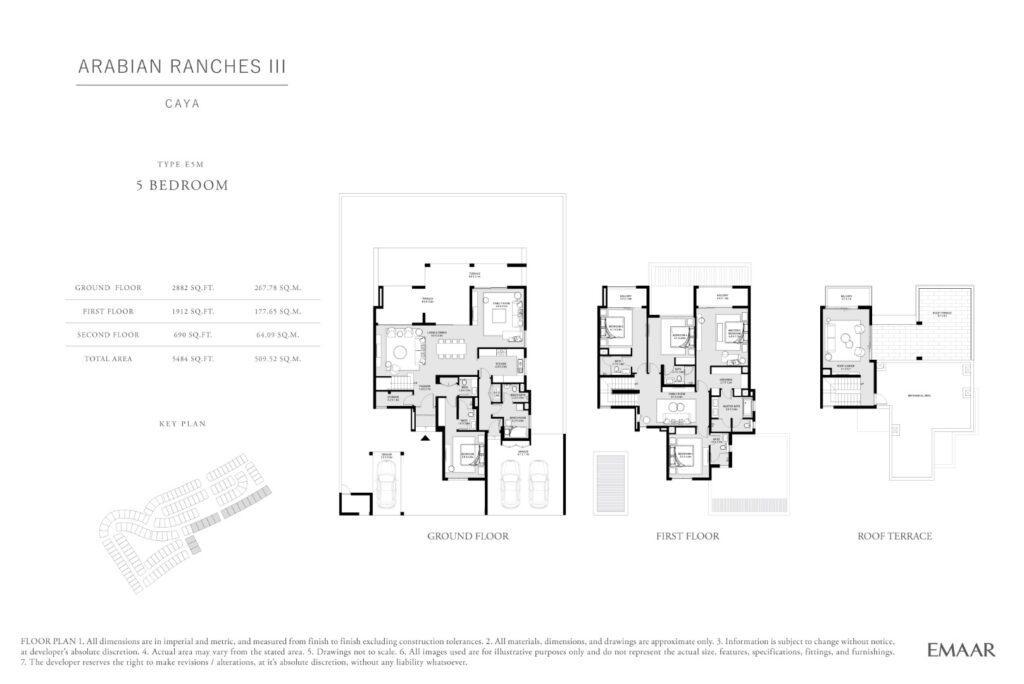 Caya Arabian Ranches III Floor Plans 5 Bedroom